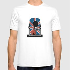 Greetings from London White MEDIUM Mens Fitted Tee