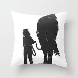 Horse Riding Girl Horses Rider Horseback Gift Throw Pillow