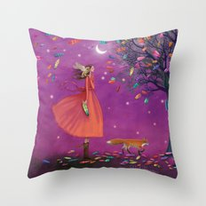 stay calm & relish the moment Throw Pillow