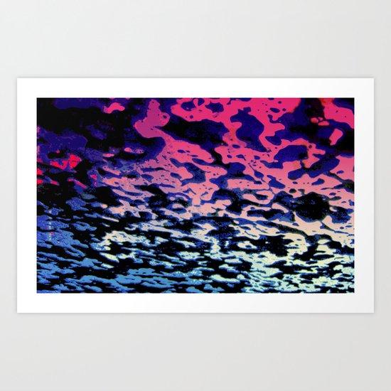Colours of Foam Art Print