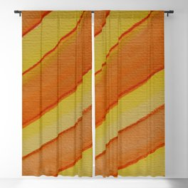Yellow Orange Strips Blackout Curtain