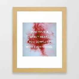 NIGHTWALKER | Heavy Heart Framed Art Print
