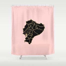 Ecuador map Shower Curtain