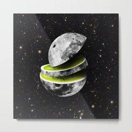 Kiwi Moon Metal Print