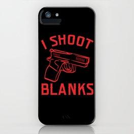 Shoot Blanks Bullet Firearms Kill Police iPhone Case