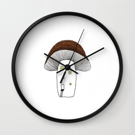 Little mushroom house Wall Clock
