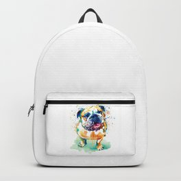 Watercolor Bulldog Backpack