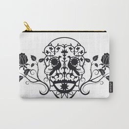 SKULL FLOWER 03 Carry-All Pouch