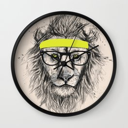 Hipster lion (light version) Wall Clock