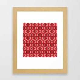 """Chevron Block """"O"""" Tile Framed Art Print"""