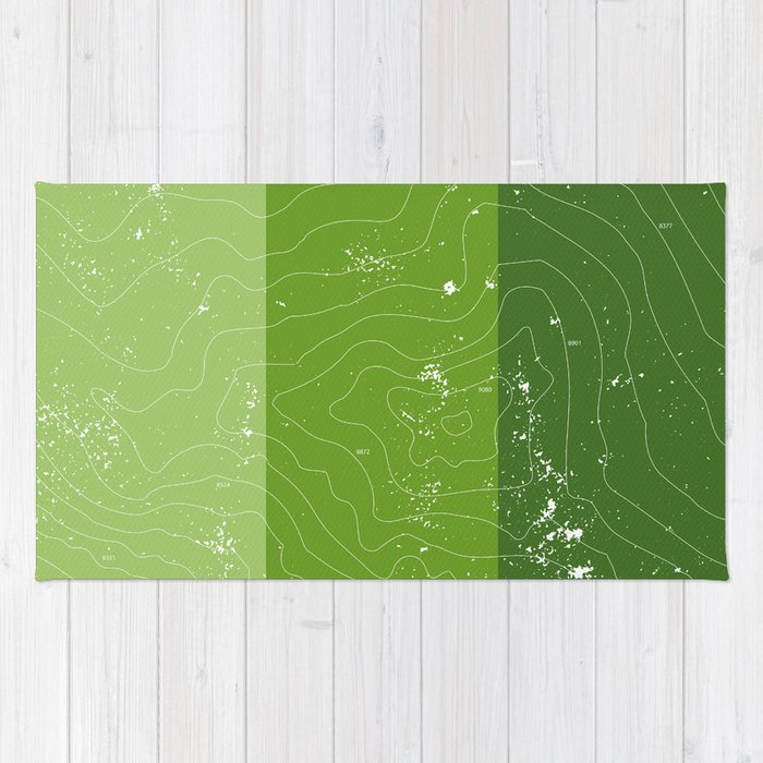 Topographic Map Of A Mountain.Green Topographic Map Of A Mountain Rug By Spadefoot Society6