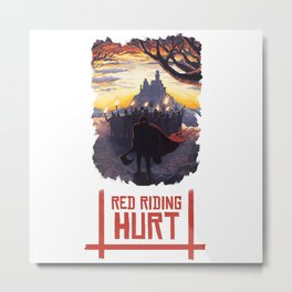 Red Riding Hurt Metal Print