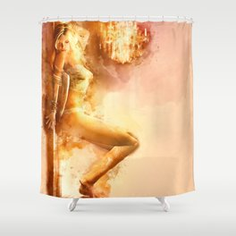The Night Is Young Shower Curtain