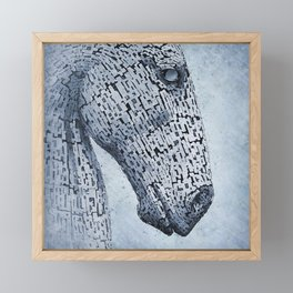 Kelpies in the Rain Framed Mini Art Print