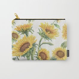 Blooming Sunflowers Carry-All Pouch