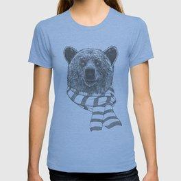 Winter Bear Drawing T-shirt