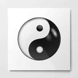 Yin yang symbol of harmony and balance Metal Print