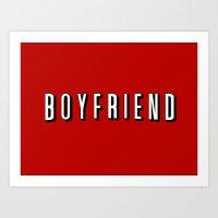boyfriend Art Prints featuring My Boyfriend by Travis Love