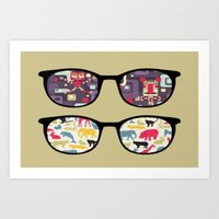 old school Art Prints featuring Old School  by Lyre Aloise