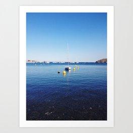 Boat stillness Art Print