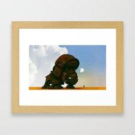 My little pet rhino Framed Art Print