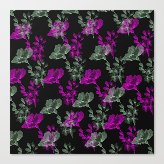 Flowers Growing Canvas Print