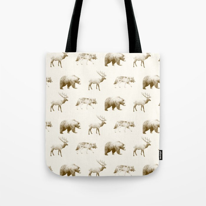 Wild Pattern // Brown Tote Bag