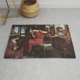 John William Waterhouse - Penelope and the Suitors Rug