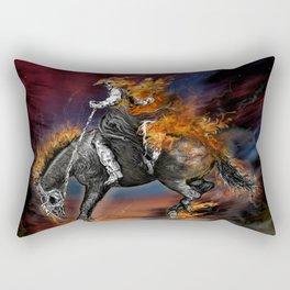 Texas Ghost Rider Rectangular Pillow