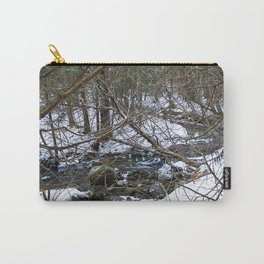 Winter Creek in the Forest Carry-All Pouch