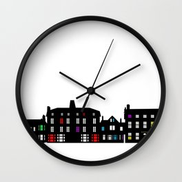 Victorian Facades Wall Clock