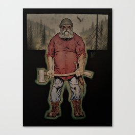 The Lumberjack (Color) Canvas Print