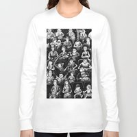 movies Long Sleeve T-shirts featuring At The Movies by Doodles n' Things