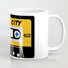 Pittsburgh Steel City 412 Vintage Music Cassette Tape Coffee Mug