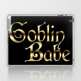 Labyrinth Goblin Babe (black bg) Laptop & iPad Skin