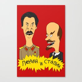Lenin and Stalin Canvas Print