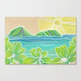 Naupakas in Paradise Surf Art by Lauren Tannehill Canvas Print