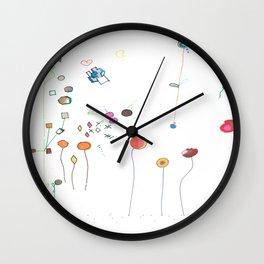 Floral Fall Wall Clock
