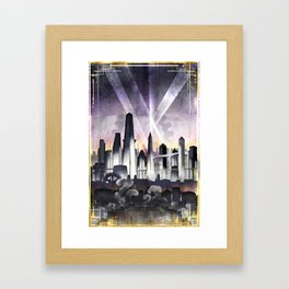 Art Deco Metropolis Framed Art Print