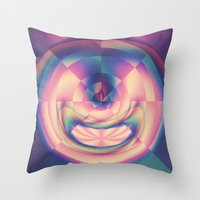 apple Throw Pillows featuring Apple by Truly Juel