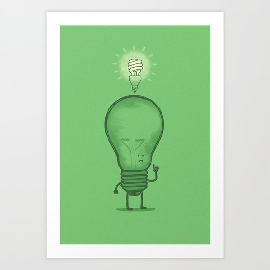 Think Efficiently! Art Print