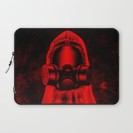 Toxic environment RED / Halftone hazmat dude Laptop Sleeve