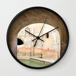 View into Roman Baths Wall Clock