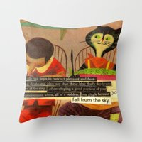 skyfall Throw Pillows featuring skyfall by karen owens