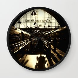 Railway Station Cologne (monochrom) Wall Clock