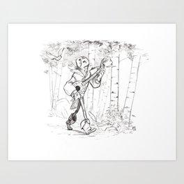 Troubachouette Art Print