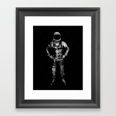 I'll take you to the moon and leave you there Framed Art Print