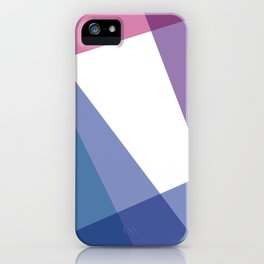 Fig. 003 Colorful Geometric Shapes Pink Blue iPhone Case