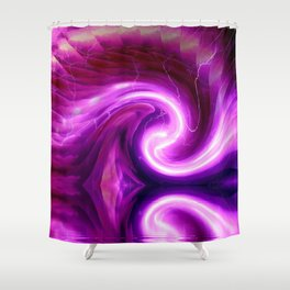Swirling Color Reflected Shower Curtain