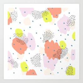Blotchy Pattern Art Print